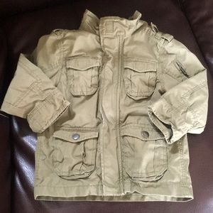 H&M army green bomber jacket 2T